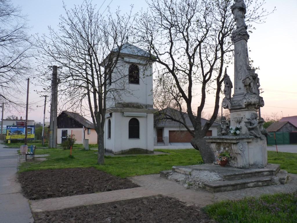 Pôvodný stav zvonice (stavba s dvoma poschodiami)