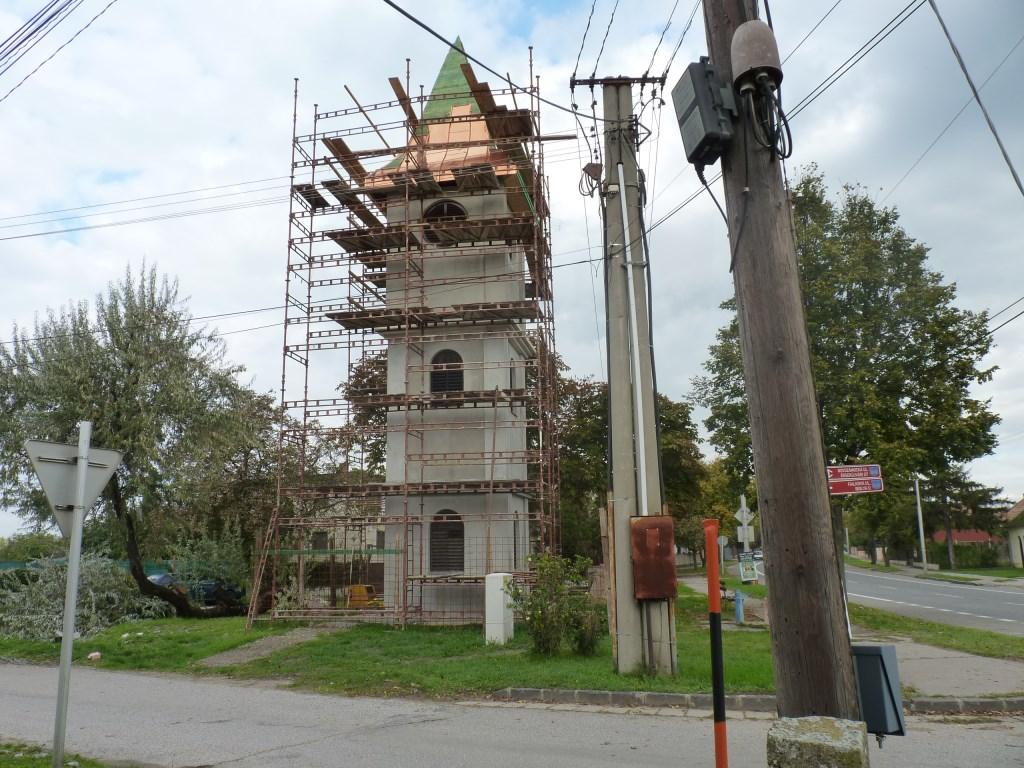 Nová fasáda zvonice