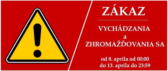 zakaz vychadzania - banner