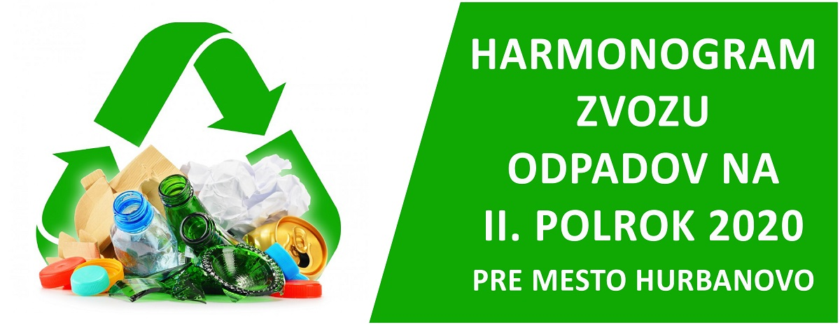 Harmonogram zvozu komunalneho odpadu na II. polrok 2020