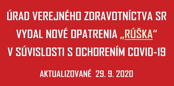 COVID-19 UVZSR nove opatrenia RUSKA_565px - 29 Sep 2020