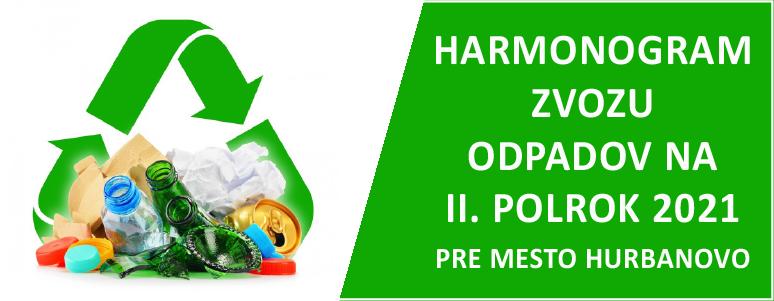 Harmonogram zvozu komunal odpadu na II. polrok 2021-02